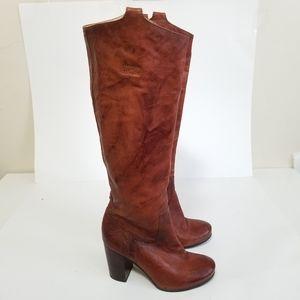 Frye size 6 Carson heel tab knee high boots
